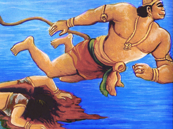 Image result for hanuman kills simhika