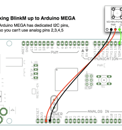 connection of arduino to blinkm module [ 1248 x 890 Pixel ]