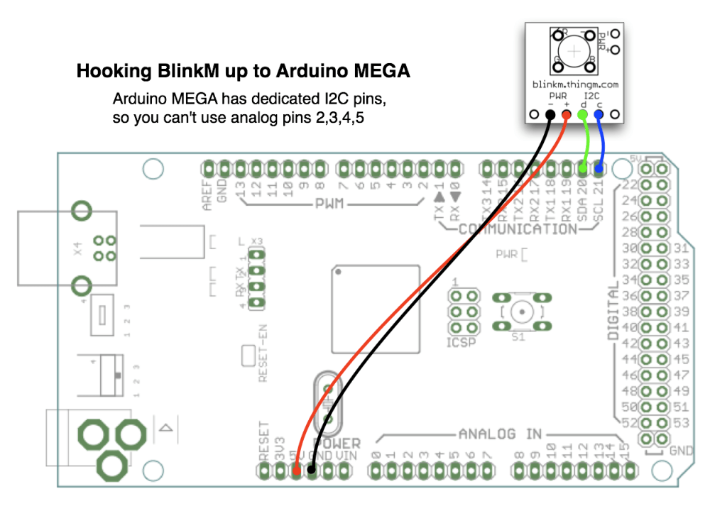 medium resolution of connection of arduino to blinkm module