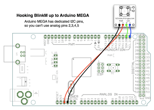 small resolution of connection of arduino to blinkm module