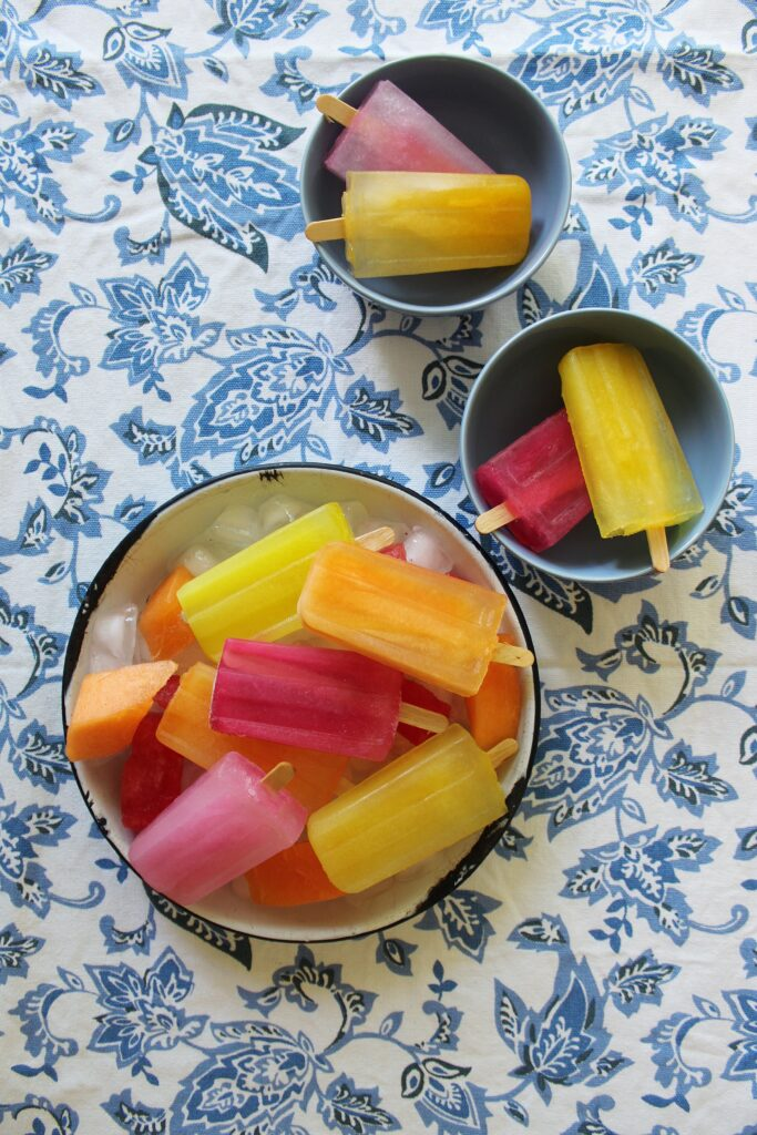 Fruit infused Popsicles