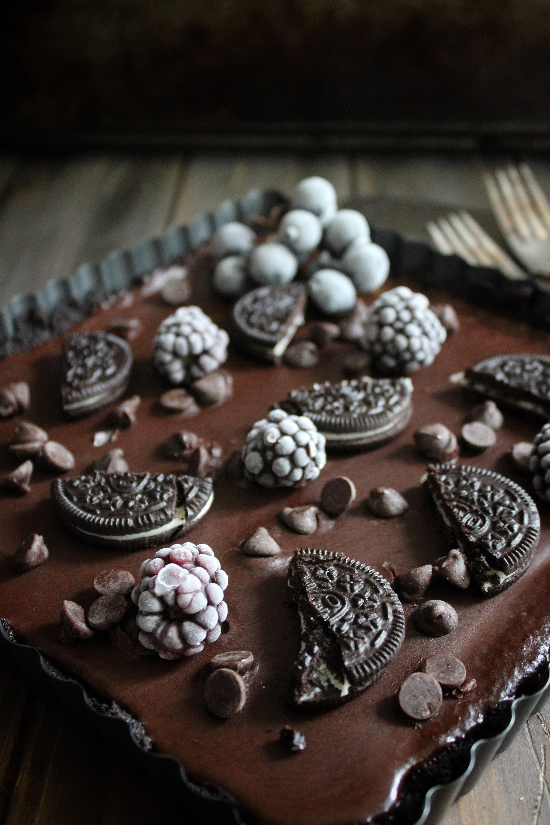 Dark Chocolate Oreo Tart