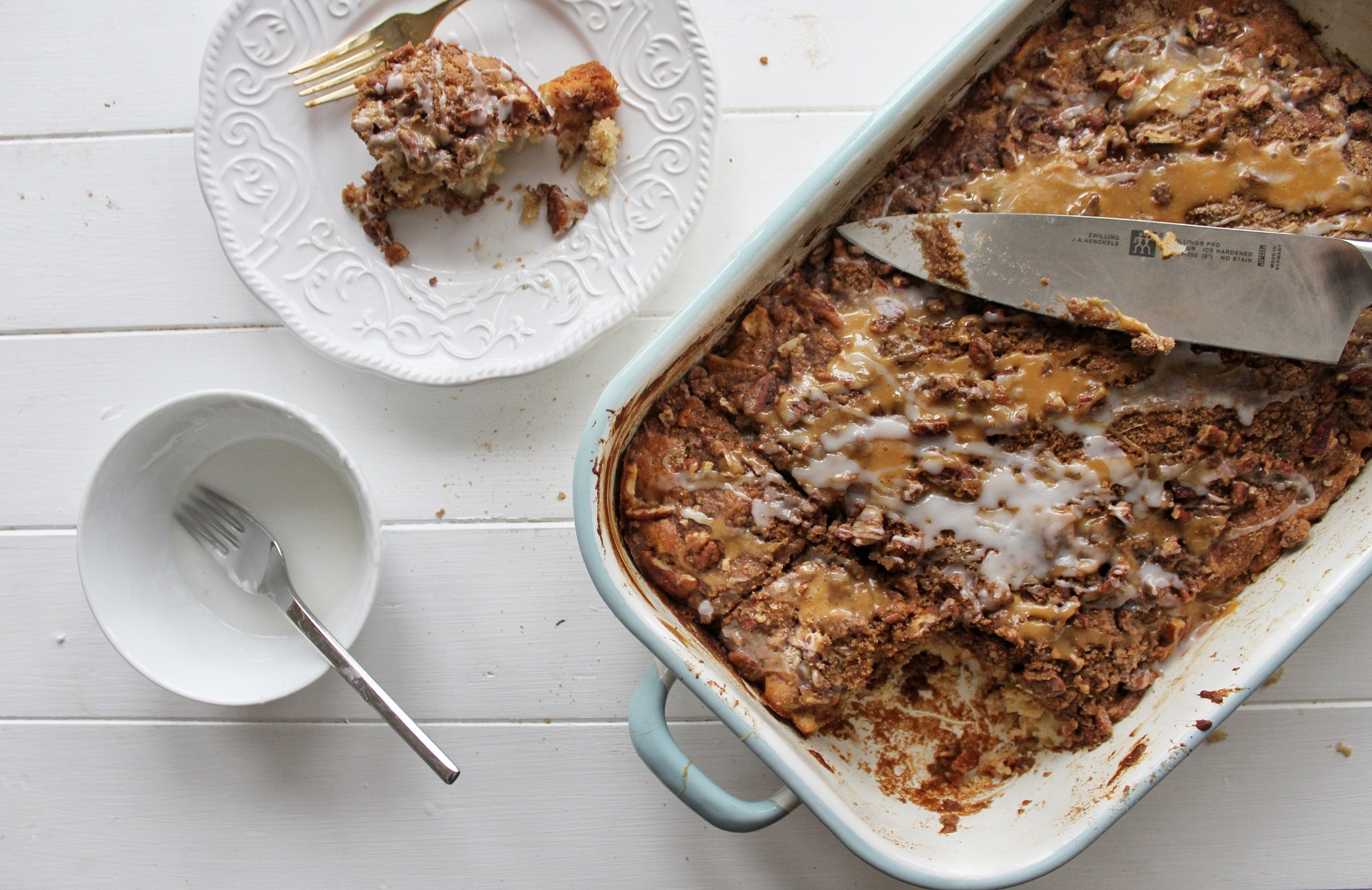 one bowl apple pecan cake