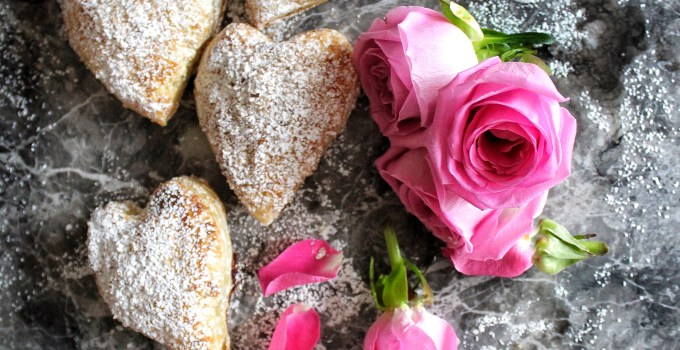 Heart Shaped Chocolate Cherry Hand Pies