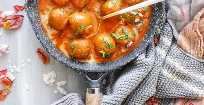 Vegan Thai Red Curry Meatballs