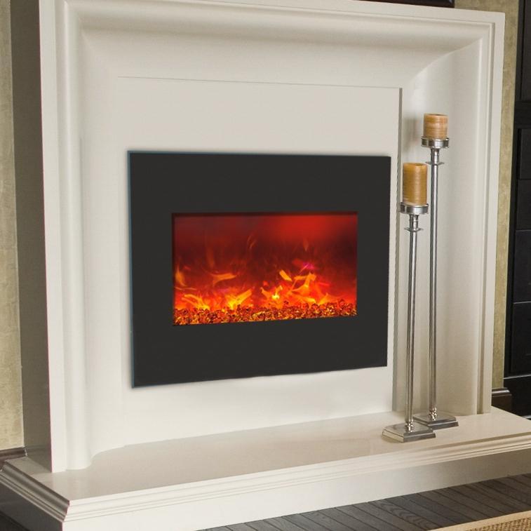 Amantii Zero Clearance 26inch Builtin Electric Fireplace  Black Glass   eBay