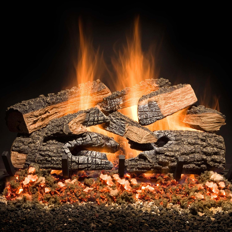 Golden Blount 30inch Split Bonfire Charred Vented Gas Log Set