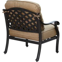 Aluminum Lounge Chairs Leather Office Canada Darlee Nassau Cast Deep Seating Patio