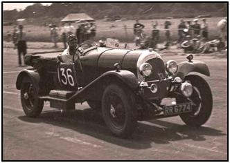 Bentley racing at Silverstone
