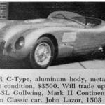 Jaguar C-Type – Classic Cars for Sale