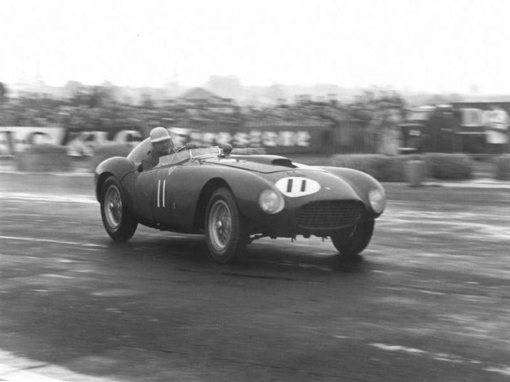 1954 Ferrari 375 Plus 0384 AM winning at Silverstone with Froilan Gonzalez (photo: Marcel Massini)