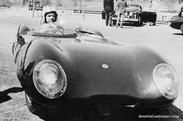 Broadcasting legend Walter Cronkite in his Lotus Eleven. Cronkite drove at Sebring in 1959 as well as Lime Rock. Forum Autosports photo.