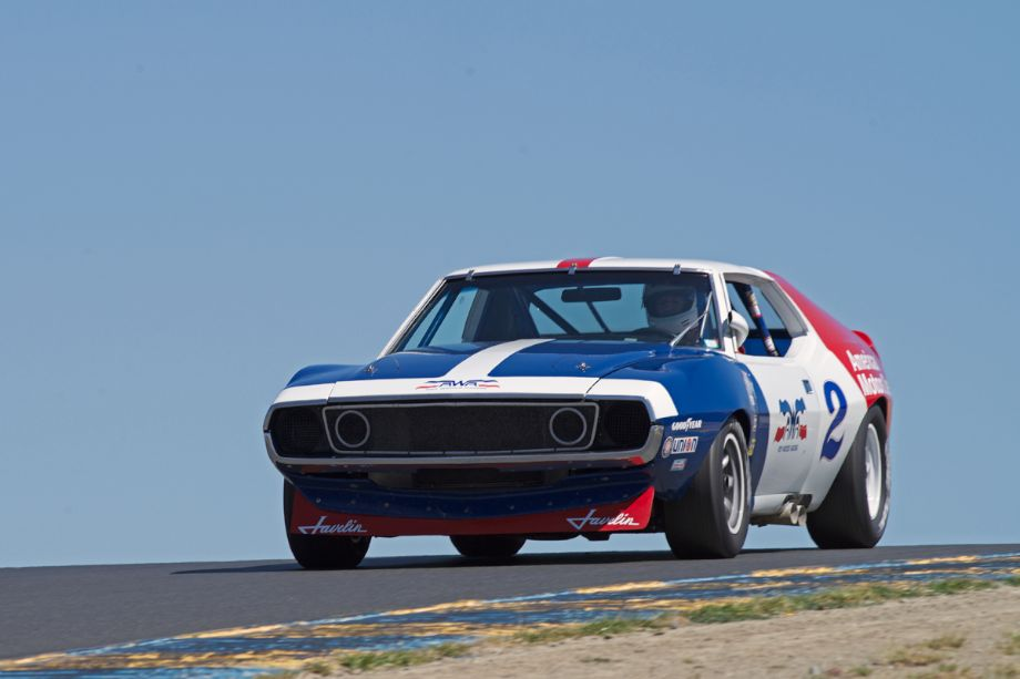 1972 AMC Javelin driven by Ken Epsman in turn three.