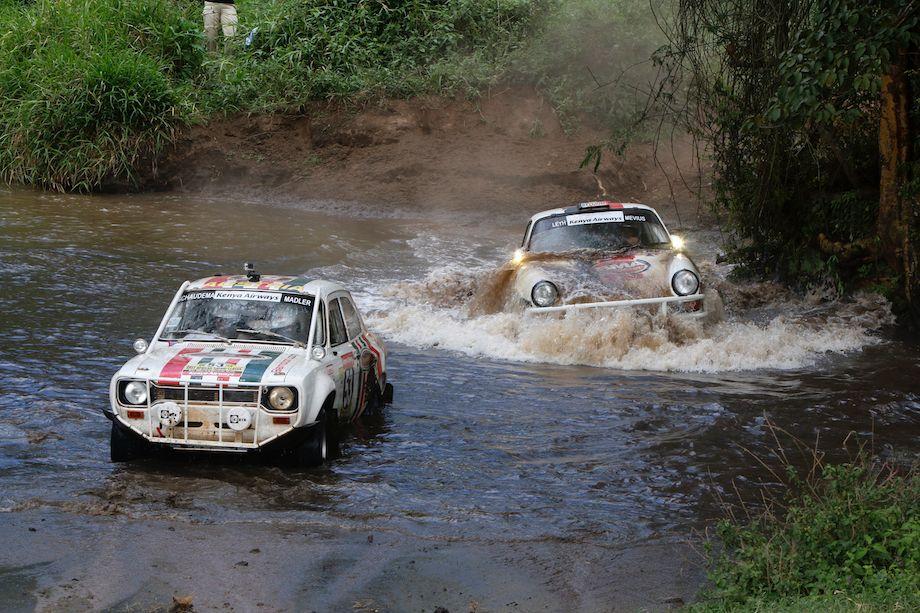 Michael Madler / Michael Schauderna, Ford Escort Mk I and Gregoire De Mevius / Alain Guehennec, Porsche 911