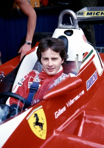 Gilles Villeneuve in the Ferrari 312 T3