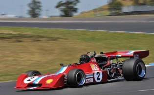 After repairing his car, Tom Tweedie's Chevron B24/28 was back in front on Sunday.