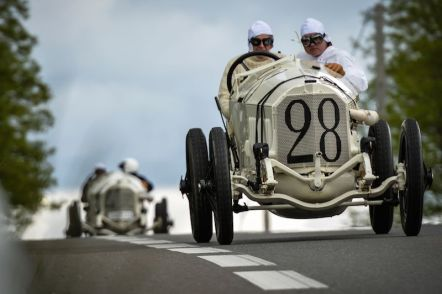 The winning 115 hp Mercedes Grand Prix car