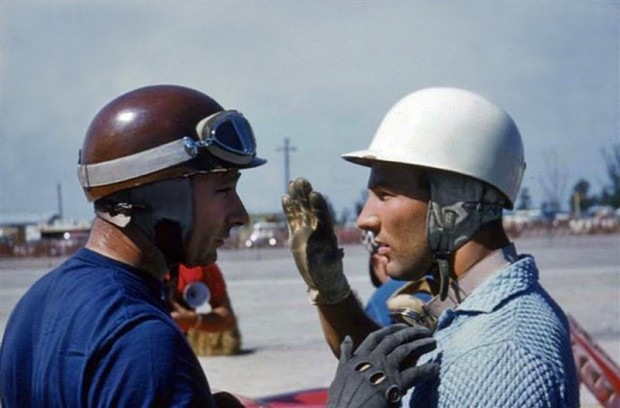 Juan Manuel Fangio and Stirling Moss.