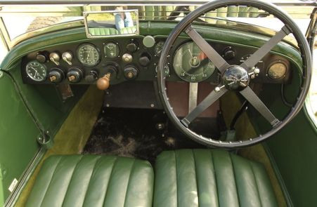 Interior, 1928 Bentley 4.5 Litre Semi-Le Mans Tourer