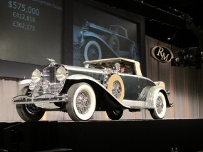 1929 Duesenberg Model J Convertible Coupe on Auction Block at RM Hershey