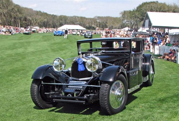 Close up of the 1931 Voisin C20 Demi-Berline that won Best of Show, Concours d'Elegance at the 2009 Amelia Island Concours d'Elegance