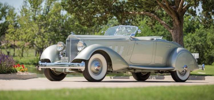 1933 Packard Twelve Individual Custom Sport Phaeton (photo: David McNeese)