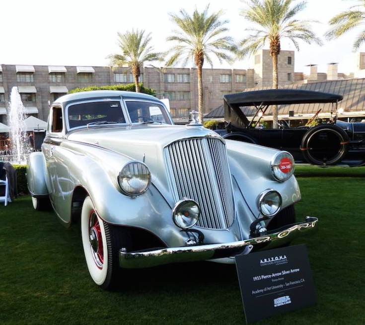 1933 Pierce-Arrow Silver Arrow (photo: Bob Golfen)