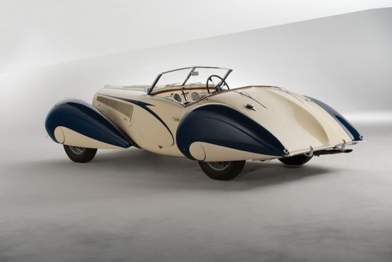 1937 Delahaye 135 Competition Court Roadster Left Rear