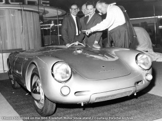 1955 Porsche 550 Spyder at the Frankfort Motor Show (photo: Porsche)
