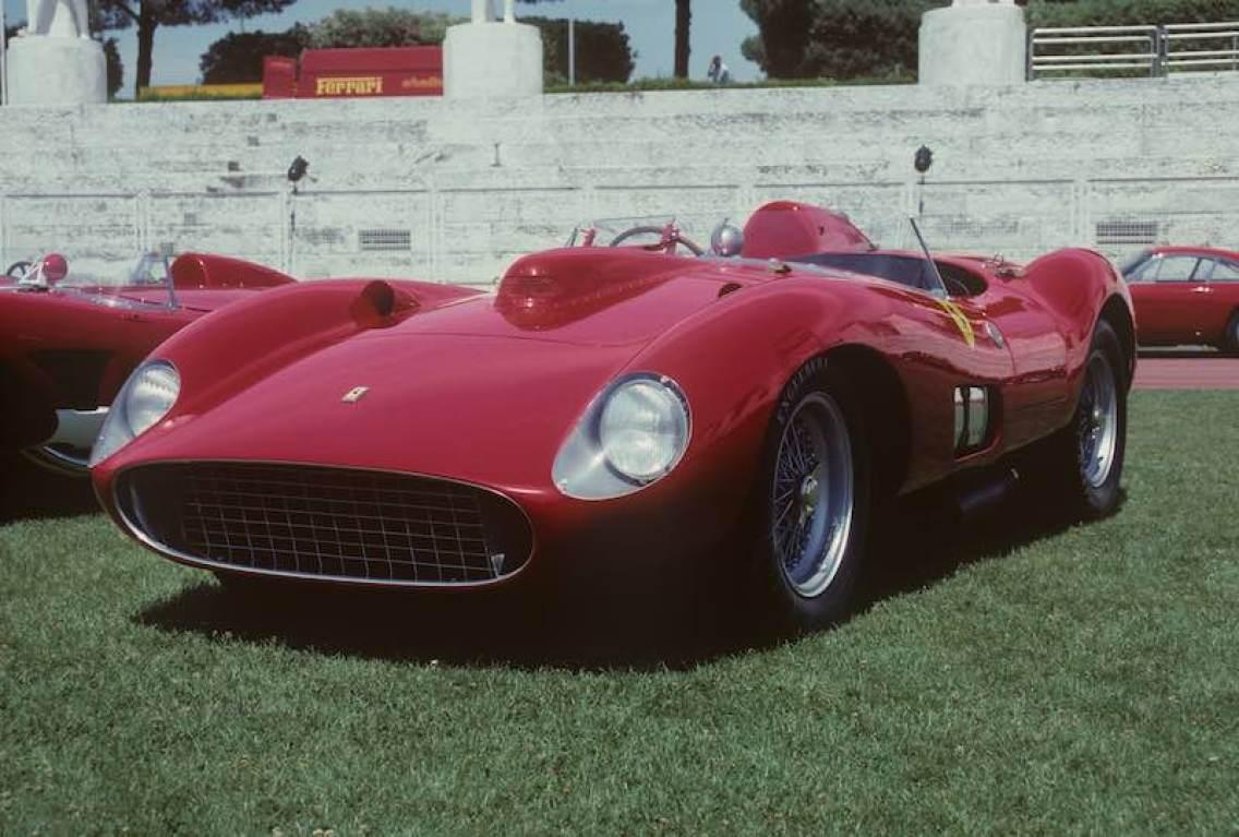 1957 Ferrari 335 S Scaglietti Spider, chassis 0674, Rome 1997, (photo: Marcel Massini)