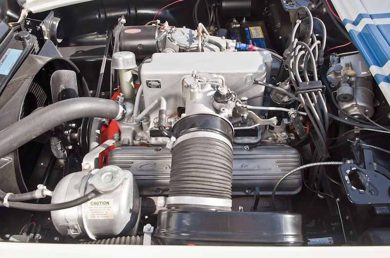 1961 Chevrolet Corvette Gulf Oil Race Car Engine