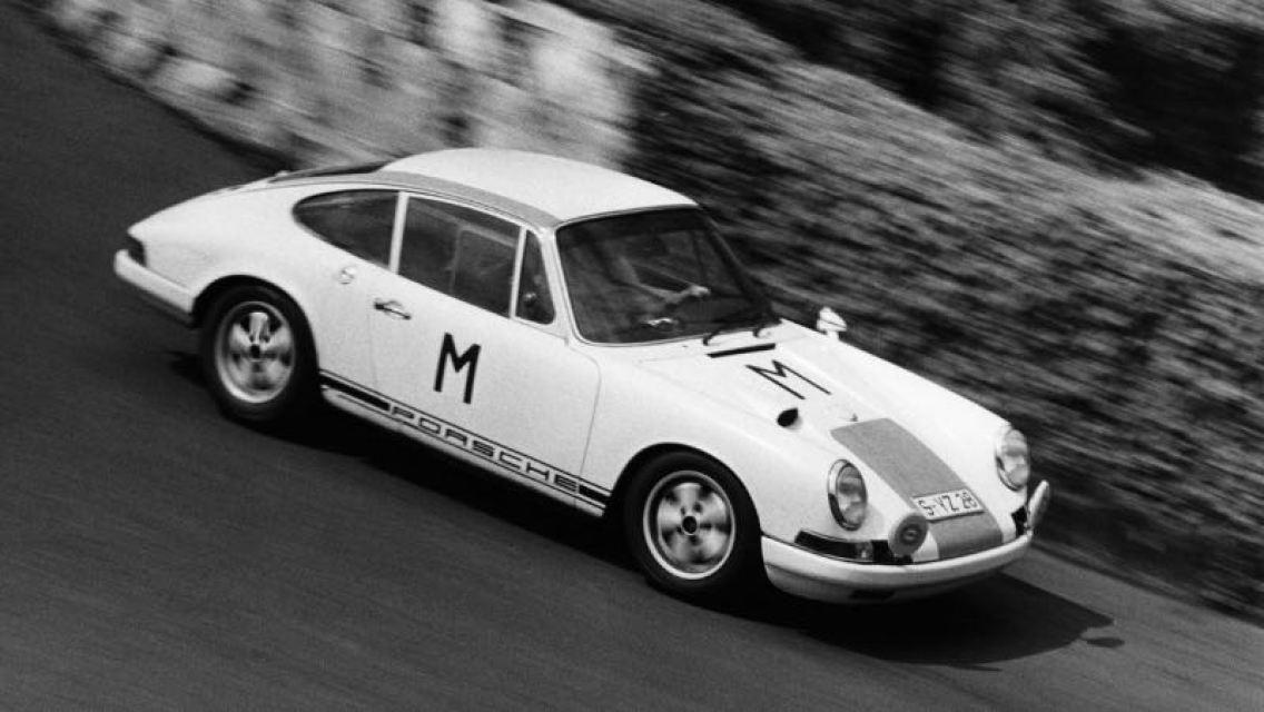 Porsche Typ 911 R 2.0 Coupe,1000 km-race at Nurburgring, 1968, Porsche AG