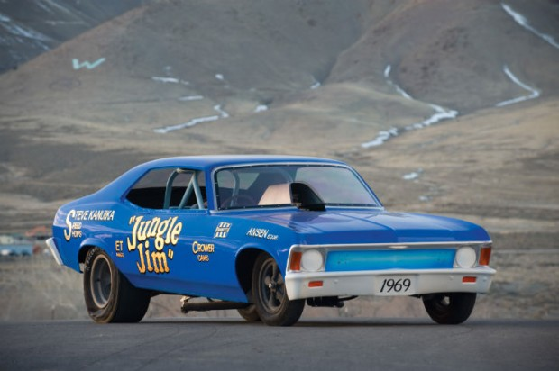 <strong>1969 Chevrolet Nova 'Jungle Jim' Funny Car - Estimate $125,000 - $175,000.</strong> Won 1969 NHRA Winternationals.