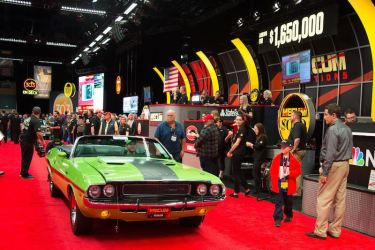 1970 Dodge Hemi Challenger R/T Convertible (Lot F111) sold for $1,650,000