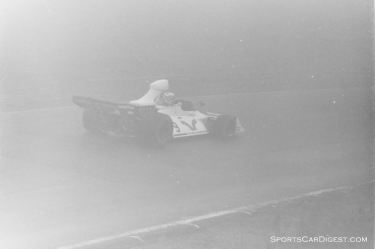 Rolf Stommelen's Brabham in Saturday's fog
