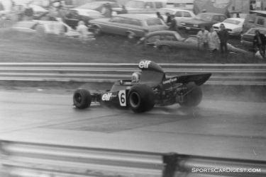 Francois Cevert's Tyrrell in the Saturday wet