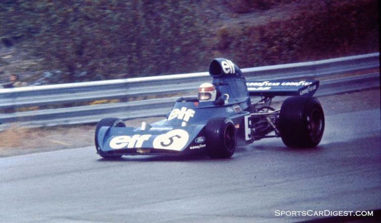 Jackie Stewart's Tyrrell at speed