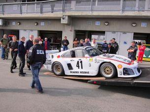 1979 Porsche 935 K3 loaded on DEA hauler (photo: David Soares)