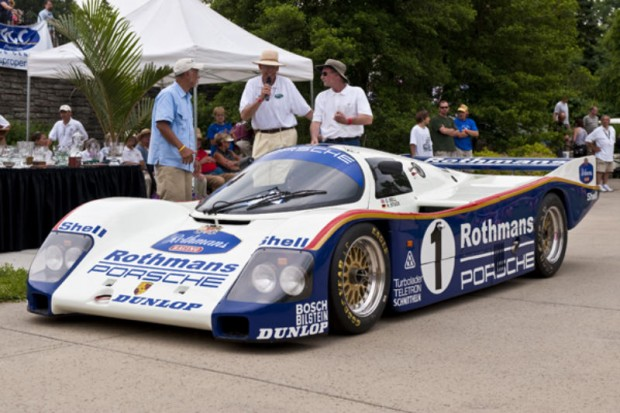 <strong>Feature Marque – German Racing, All Years, Sponsored by Precision Motor Cars </strong> 1985 Porsche Rothmans 962C – 003, Stanley D. Ross, Columbus, OH