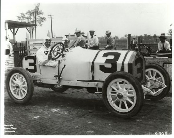 Barney Oldfield Stutz White Squadron, 5th 1914 Indianapolis 500 (IMS Archives)