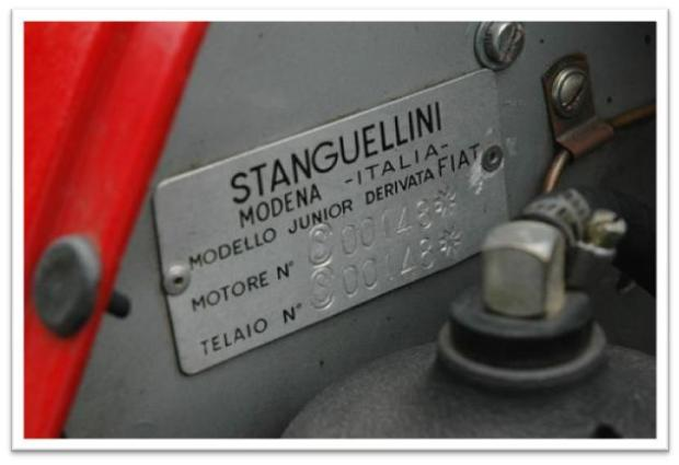 Stanguellini Formula Junior For Sale Chassis Tag