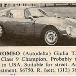 Alfa Romeo TZ – Classic Cars for Sale