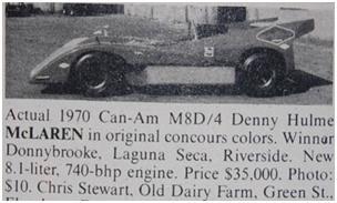 mclaren m8d/4 - classic cars for sale