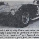 Ferrari 500 Mondial – Classic Cars for Sale