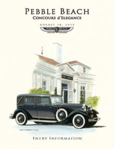Cover art for the 2013 Entry Application for the Pebble Beach Concours d'Elegance