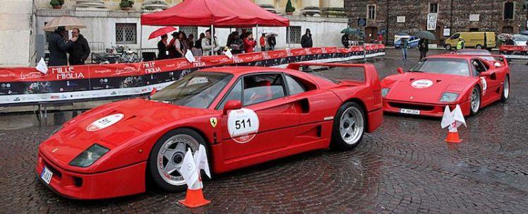 F40 on Ferrari Mille Miglia Tribute