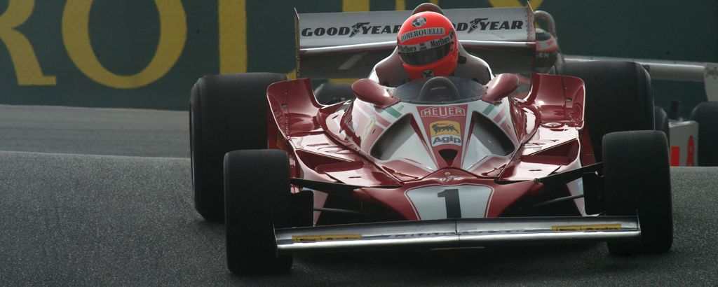 Ferrari 312 T2 in the Corkscrew.