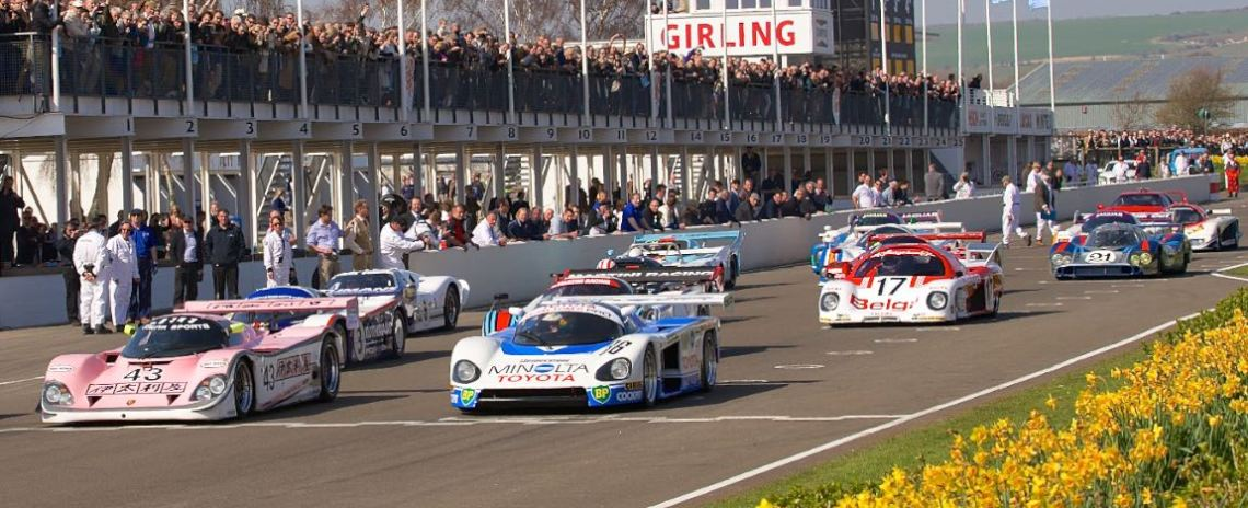 Start of the Le Mans racer parade laps
