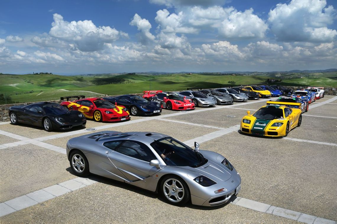1994 McLaren F1 chassis 013 and the gathering of F1 models