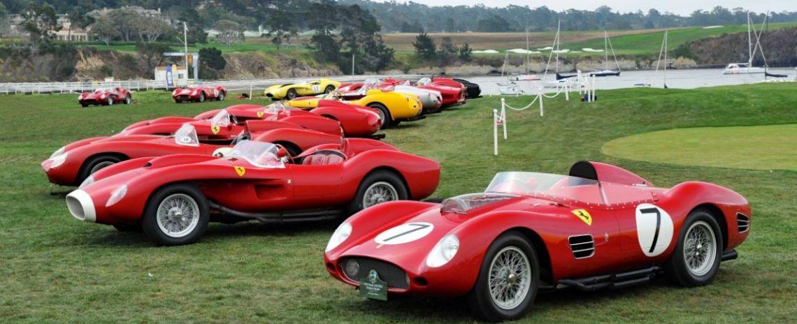 Ferrari 250 Testa Rossa Class at Pebble Beach Concours d'Elegance 2014